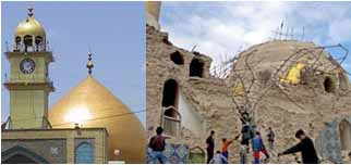 The Golden Dome before and after